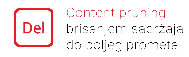 Content pruning: Povećajte promet brisanjem  sadržaja