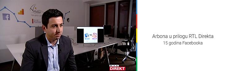 RTL Direkt - Arbonino istraživanje dio priloga o 15 godina Facebooka