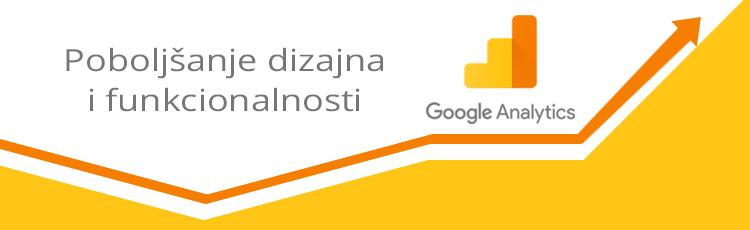 Poboljšanje dizajna i funkcionalnosti Google Analyticsa