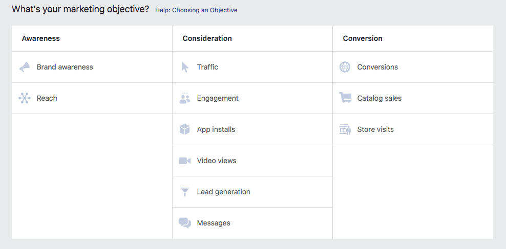 Google Ads Manager i ponuđeni ciljevi