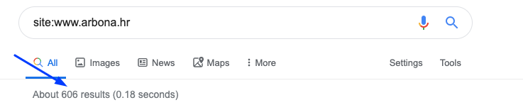 Kako provjeriti da li Google indeksira web stranicu