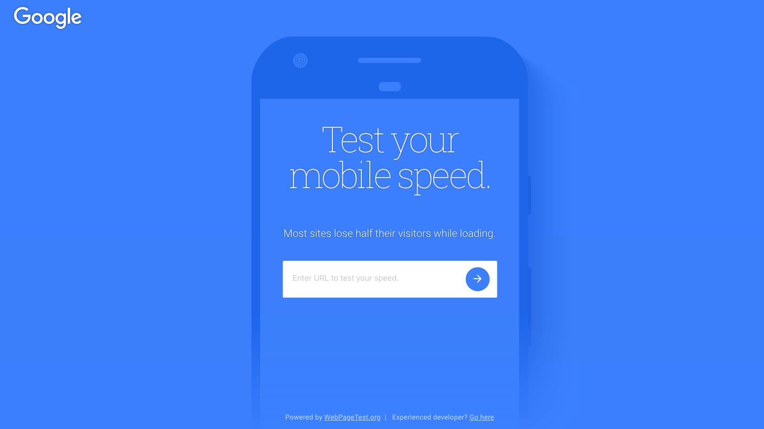 Test My SIte - Google besplatni alat