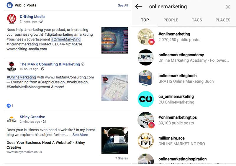 Facebook i Instagram hashtagovi