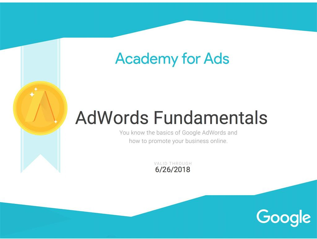 Google AdWords certifikati